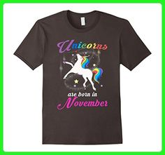 Mens Unicorns Are Born In November Funny Unicorn Pole Dance Tee 2XL Asphalt - Fantasy sci fi shirts (*Amazon Partner-Link)