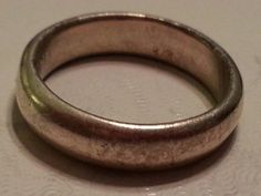 Sterling Silver Wedding Band Ring 925 Mens or by MyYiayiaHadThat, $20.00