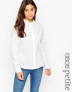 ASOS PETITE Fitted White Shirt