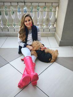 Rain Boots + Puffer Vests Kristine's Kaleidoscope