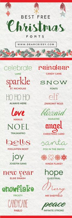 Best Free Christmas Fonts - beautiful free holiday fonts to make your season merry and bright!