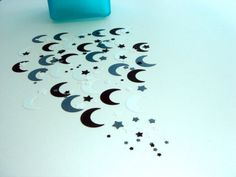 200 Pieces of Twilight Stars and Moon Hand Punched by GFetti, $4.00