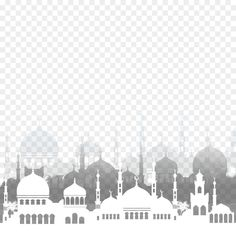 Image with transparent background, White Islamic Mosque Silhouette Ramadan Icon Photo without background its from Religion, Holidays and Art categories, PNG file easily with one click Free HD PNG images, png design with high quality.