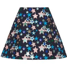 DELPOZO Flared Mini Skirt (3.650 BRL) ❤ liked on Polyvore featuring skirts, mini skirts, multi, high waisted short skirts, flared skirt, flare skirt, flare short skirt and high waisted mini skirt