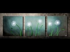 How to paint dandelions 1 - FAST and EASY - step by step - YouTube