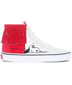 d51bbc95a3 Vans x Peanuts Sk8-Hi Doghouse Moc Skate Shoes