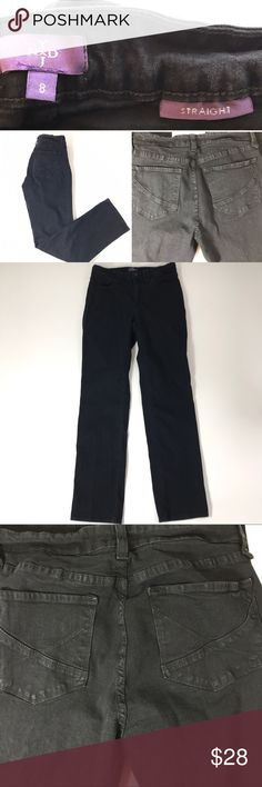 "Not Your Daughters Jeans NYDJ Black Jeans Sz 8 Good Preowned condition no rips and no stains.  Not Your Daughter Jeans Lift and Tuck Straight Leg  Color: Black   96% Cotton 4%Spandex  Size 8  Measurements  Waist-28"" Inseam 31.5"" NYDJ Jeans Straight Leg"
