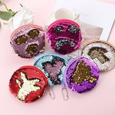 img Purse Wallet, Clutch Bag, Mermaid Sequin, Glitter Girl, Crochet Earrings, Sequins, Chic, Party, Coin Purses