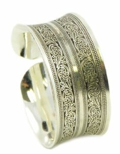 Ethnic Floral Engraved Burnished Silver Concave Tapered Cuff Bracelet You Accessorize, http://www.amazon.com/dp/B00962CWB8/ref=cm_sw_r_pi_dp_Pn9orb1PVQSEJ
