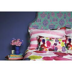 Buy bluebellgray Abstract Print Cotton Cushion Online at johnlewis.com
