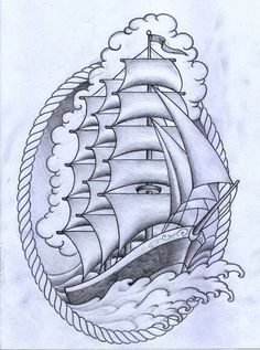 Traditional ship tattoo by - Ranz | Tattoo Art / Sketches ...