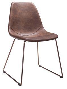 Köp - 1395 kr! Atlantic raw matstol slädben- Koppar/brun. Atlantic är en serie med möbler i vintage utföranden med