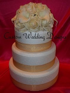 Wedding Cake Topper made of Real Touch by Customweddingdesigns, $105.00