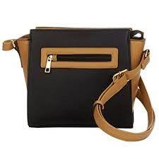 TRAVELSMITH RFID Crossbody Bag with Anti-Theft Pacsafe Shoulder Vegan BLACK CAMEL