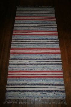 about Red/White/Blue Antique Swedish Rag Rug Buy a rag rug in Finland, take it to Gainesville.Buy a rag rug in Finland, take it to Gainesville.