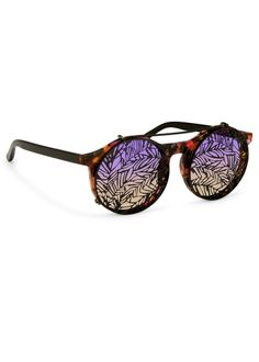 248a5c12ecf Purple Sunrise Sunglasses with Clip-On Frames- Matthew Williamson Clothing  And Textile