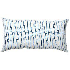 IKEA - AVSIKTLIG Cushion white/blue