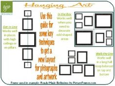 How to hang artwork and pictures