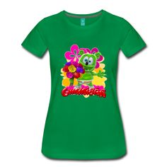 Gummibär floral t-shirt design featuring Gummibär - everyone's favorite animated dancing and singing gummy bear! Perfect for moms or Mother's Day!