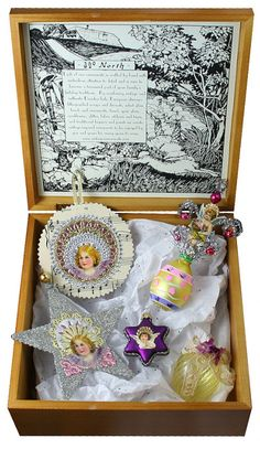 Keepsake set of old fashioned handmade Easter ornaments