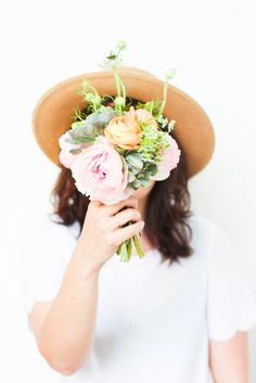 DIY // How to Add Store-Bought Succulents to Any Bouquet on a Budget My Flower, Pretty Flowers, Wild Flowers, Flower Truck, Cactus Flower, Exotic Flowers, Flower Crown, Purple Flowers, Spring Flowers