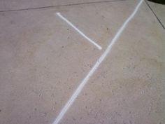 Paint on the Sidewalk