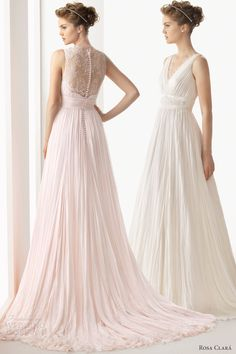 rosa clara wedding dresses 2014 soft ursa sleeveless crinkle chiffon sleeveless gown