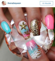 I have a collection of 15 summer beach nail art designs & ideas of 2016 just to make you know what patterns are in fashion in the summertime. Beach Nail Art, Beach Nail Designs, Nail Art Designs, Fabulous Nails, Perfect Nails, Gorgeous Nails, Cruise Nails, Vacation Nails, Sea Nails
