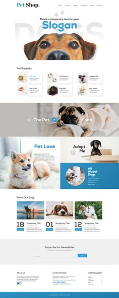 Pet Shop Web Design Inspiration on Behance Banner Design Inspiration, Web Banner Design, Website Design Inspiration, Layout Site, Website Design Layout, Animal Design, Dog Design, Stand Design, Booth Design