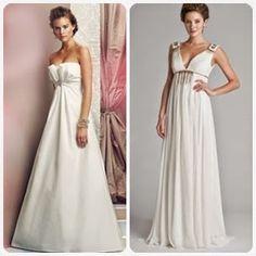 Which Style of Wedding Dress will Flatter Your Apple Shaped Body? on http://www.weddingyuki.com/2015/04/apple-shaped-body-wedding-gown.html