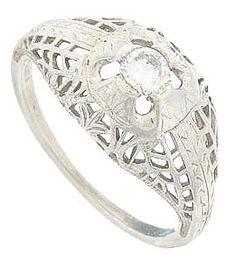 Vintage Engagement Rings R2594