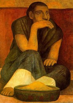 """Diego Rivera """"Portait d'Ignacio Sanchez"""" 1938 Diego Rivera Art, Diego Rivera Frida Kahlo, Frida And Diego, Expo Grand Palais, Mural Painting, Painting & Drawing, Paintings, Clemente Orozco, Statues"""