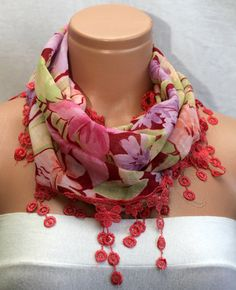 Hot Pink Scarf by Winsomescarves $12.00