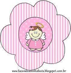 Flor Batizado Menina Anjinha Morena: