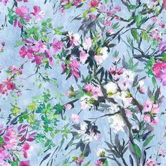 Faience Cornflower Fabric | Designers Guild
