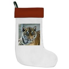#Tiger011 #Christmas Stocking #JAMFoto #Cafepress.com