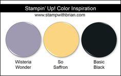 Stampin' Up! Color Inspiration: Wisteria Wonder, So Saffron, Basic Black