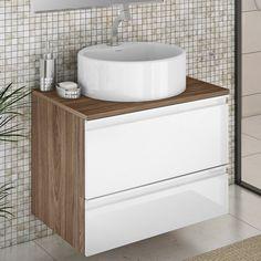 Gabinetes são peças essenciais no banheiro! O tamanho compacto facilita a instalação em qualquer local. #Prod131597
