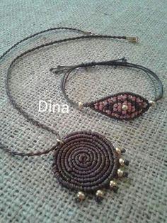 Dina Macrame Necklace, Macrame Jewelry, Macrame Bracelets, Jewelry Art, Pomegranates, Bracelet Crafts, Micro Macrame, Statement Jewelry, Lana