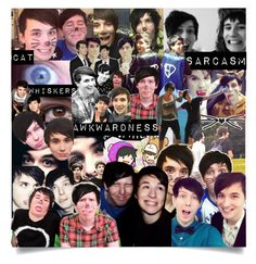 """Phan collage"" by mysecretismine ❤ liked on Polyvore featuring art"