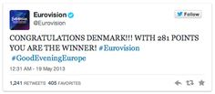Twitter 2013: #Eurovision ai vertici. YouTube: Mengoni con l'Essenziale secondo in Italia