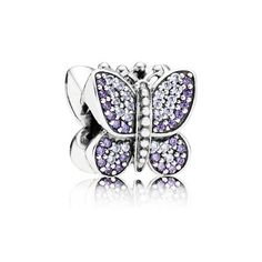 Sparkling Butterfly Charm, Purple CZ   PANDORA Jewelry US #pandorajewelry