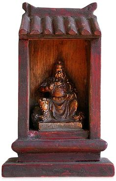 chinese wooden gods | antique chinese gilt lacquered wood kwan yu god of war traveling ...