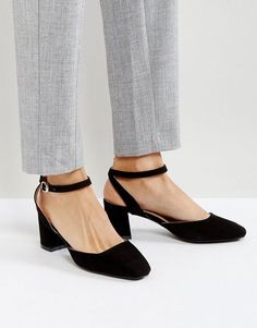 a0f022b97911 Glamorous Ankle Strap Mid Heeled Shoes Ankle Straps