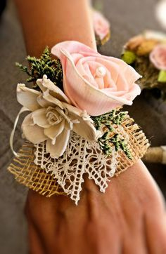 Romantic Wedding Corsage Mother of the Bride by CuriousFloral