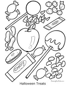 kid halloween coloring book pages!  Could even use these on a class graph