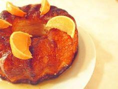 Orange cake in syrup with greek yogurt!