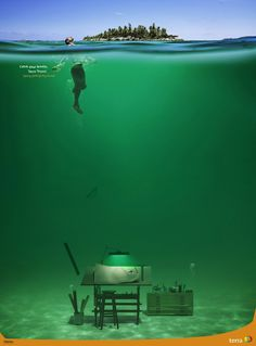 Catch your breath. Terra Travel Print Advertisement by DDB