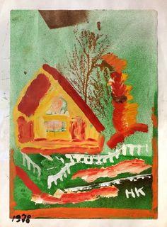 Hans Krüsi Art Brut, Outsider Art, Folk Art, Cow, The Outsiders, Painting, Red Houses, Switzerland, Culture