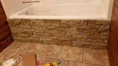 I used Airstone to add a great rustic flare to my tub/shower unit.